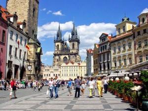 La piazza del quartiere vecchio, Praga