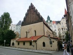 Sinagoga di Staronova nel quartiere ebraico di Praga