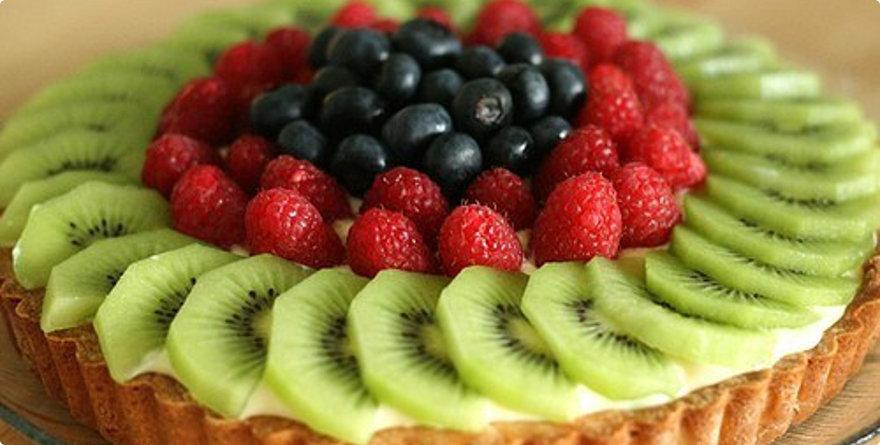 torta di ribes e kiwi