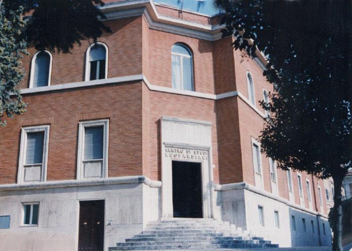 L'ingresso del Centro Nazionale di Studi Leopardiani, Recanati