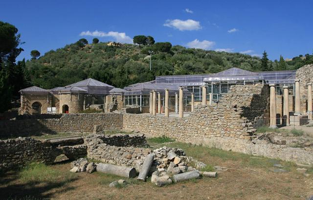 L'esterno della Villa del Casale a Piazza Armerina
