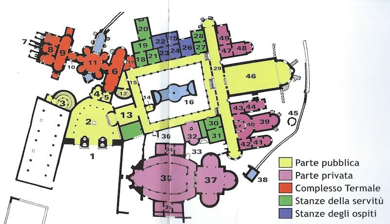 Villa romana del Casale, Piazza Armerina - la planimetria