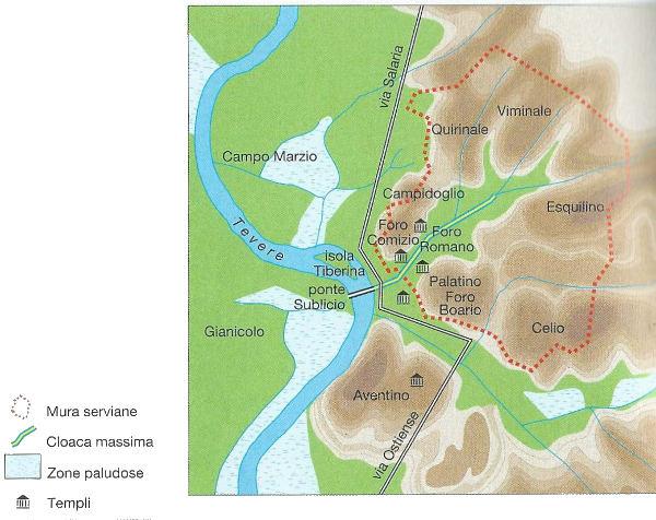 I sette colli di Roma - dove si trovano