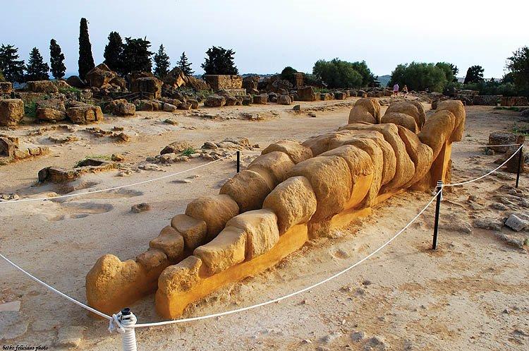 Telamone nella Valle dei Templi di Agrigento