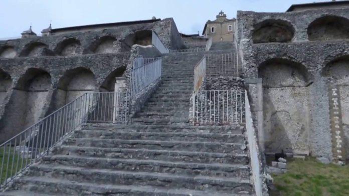 I resti oggi visibili del santuario della Fortuna Primigenia