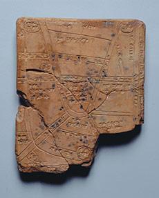 Tavoletta riproducente la pianta della città di Nippur, in Mesopotamia