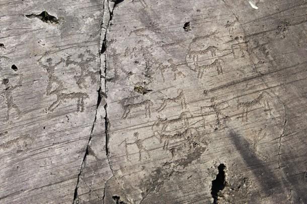 Scene di caccia, incisioni rupestri della Valcamonica