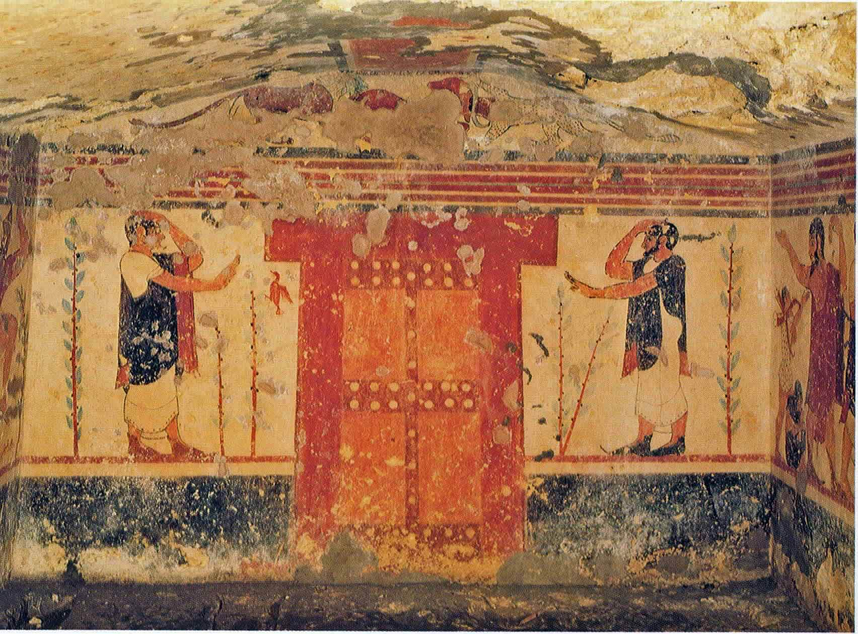 Tomba degli àuguri di Tarquinia, particolare