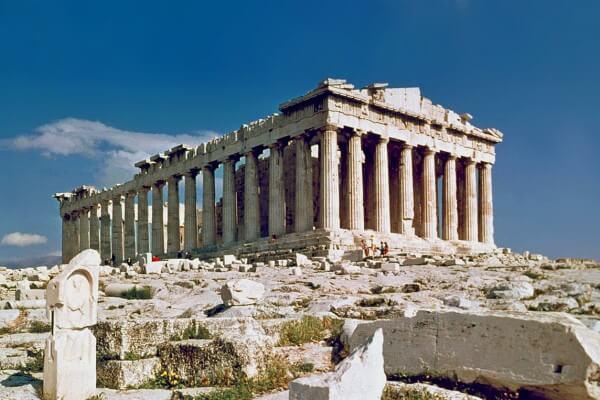 Partenone (447-432 a.C.). Acropoli di Atene