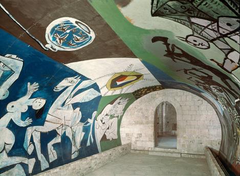 Pablo Picasso, La guerra e la pace, 1952, cappella romanica di Vallauris, Costa Azzurra