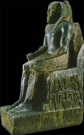 Il faraone Chefren in trono, Museo egizio del Cairo - descrizione dell'opera
